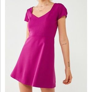 NWOT Urban Outfitters Magenta Pink Dress Fit Flare